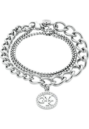 GMK Collection by CHRIST Damen-Armband Edelstahl 25 Zirkonia One Size, silber