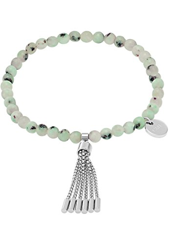 GMK Collection by CHRIST Damen-Armband Edelstahl 42 Naturstein One Size, silber/türkis