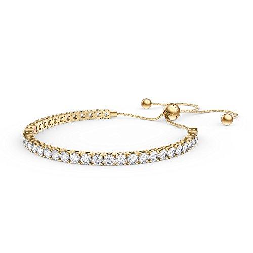 Ewigkeit Diamant CZ 18ct vergoldet Silber Fidschi Freundschaft Tennis Armband