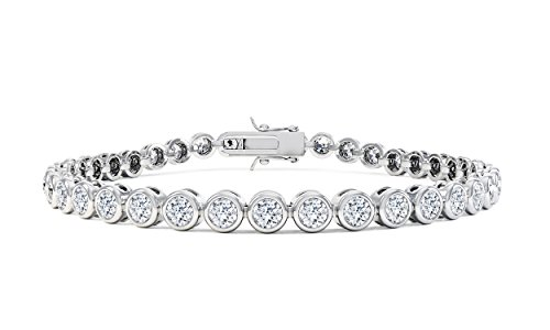 Infinity Diamant Silber Tennis Armband (7.5in weiß gold)
