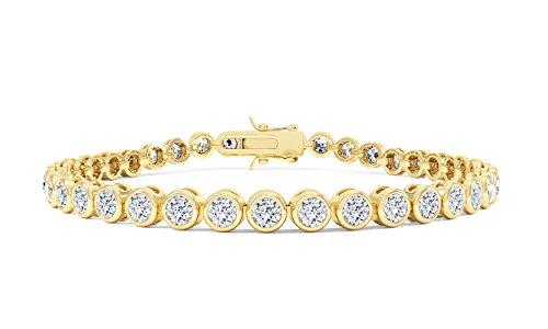 Infinity weiß silber Saphir Tennis Armband (17,8cm gold)