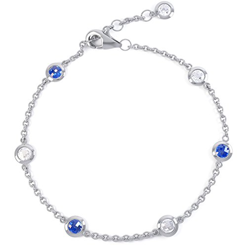Jian London Armband Kunstsaphir Blau/Weiß
