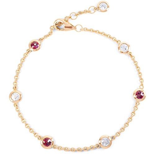 Jian London Armband Kunstsaphir Kunstrubin Rotgold-Vermeil 18Karat