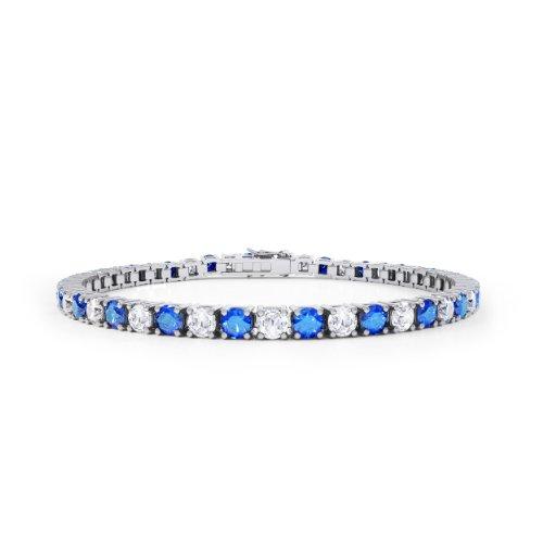 Stardust Saphir und Diamant Damen-Armband - Silber - Weißgold