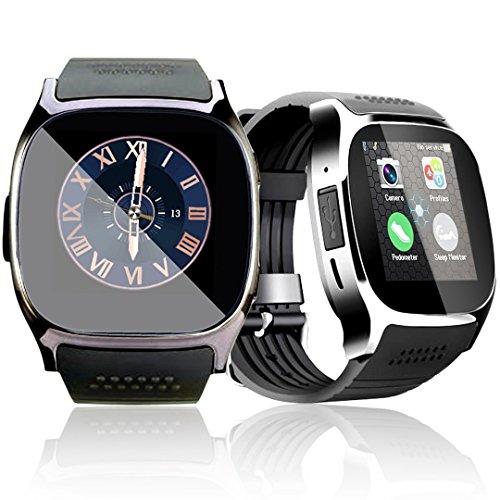 """1.54"""" Bluetooth SmartWatch Armband Touchscreen mit Kamera SIM Karten Einschub Sport Tracker Uhr mit Schrittzähler Schlaf Monitor Handy-Armbanduhr für Android Smartphones"""