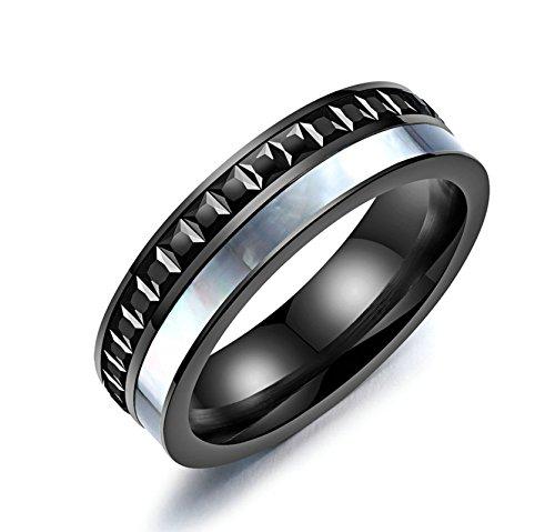 AieniD Hochzeitsring Titan Ring For Herren Shell DoppelrundeVertrauensring Verlobungsring