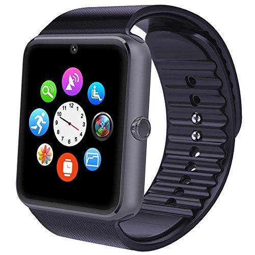 AsiaLONG Bluetooth Smartwatch Smart Uhr Watch Armbanduhr mit 1.54 Zoll Display / Schrittzähler / Schlafanalyse / SMS Facebook Vibration für Android Handy