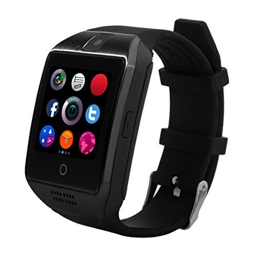 Bluetooth Smartwatch [Neue Version], CHEREEKI Smart Watch Uhr Intelligente Armbanduhr [1.54'' Gebogene Bildschirm] Android Uhr mit Kamera/ Schrittzähler/ Schlaftracker/ Romte Capture Kompatibel mit Android