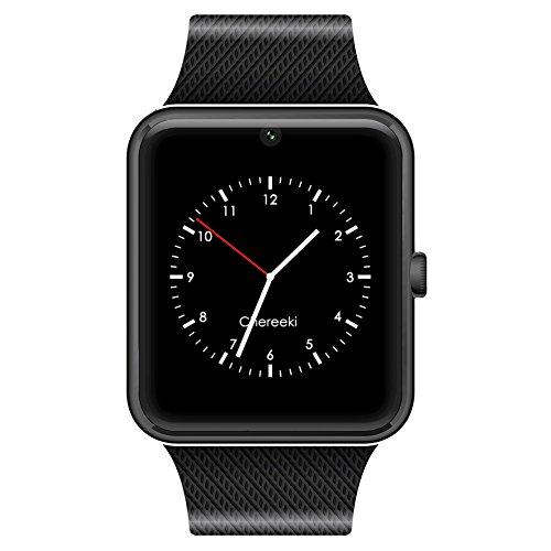 CHEREEKI Bluetooth Smartwatch mit Kamera Unterstützt SIM-Karte & TF-Karte Handy-Armbanduhr Touchscreen Smartwatch Schrittzähler-Armband für Android Smartphones