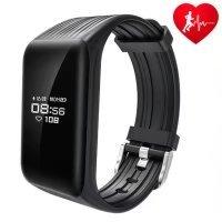 Fitness Tracker, DAWO Fitness Armbanduhr Wasserdicht Fitness Tracker mit Herzfrequenz / Schlafmonitor / Kalorienz?hler / Multi- Sport Aktivit?tstracker - Smart Fitness Armband Android IOS (Schwarz)