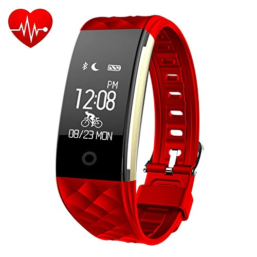 Fitness Tracker,iPosible Fitness Armbänder Armband mit Pulsmesser Aktivitätstracker Pulsuhren Bluetooth Smart Armbanduhr,Herzfrequenzmonitor,Schlafmonitor,Schrittzähler,GPS-Routenverfolgung,Alarme für Android iOS Smartphone