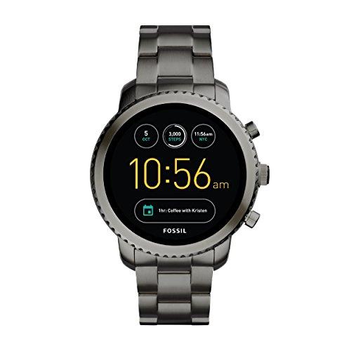 Fossil Herren Smartwatch Q Explorist 3. Generation - Edelstahl - Grau / Eindrucksvolle Smartwatch mit praktischen Funktionen / Für Android & iOS