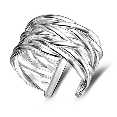 Hosaire Ringe Mode Kreativ Gewebt Form Offener Ringe Schmuck für Geburtstags Geschenk,Einstellbare Größe