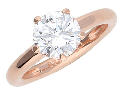 JOOP! Damen-Ring 925 Silber teilvergoldet Zirkonia transparent JPRG90735C5