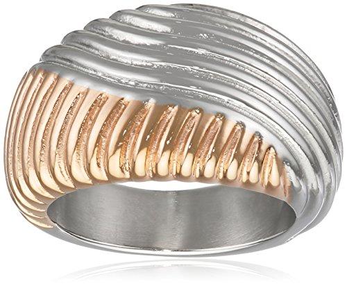 Joop Damen Fingerring Edelstahl Silber Waves JPRG10609A