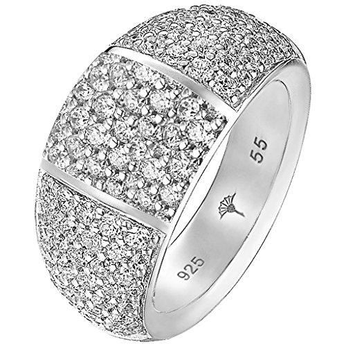 Joop Damen-Ring 925 Silber Perlmutt Rechteckschliff creme Zirkonia Gr. 57 (18.1) - JPRG90691A570