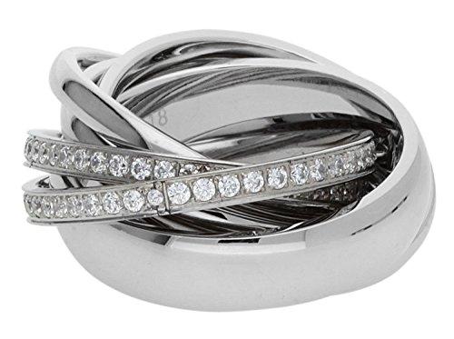 Joop Damen-Ring Edelstahl Glas - JPRG10631A1