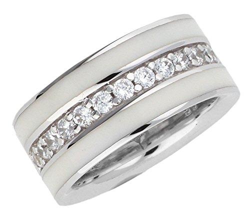 Joop Damen-Ring Jessica 925 Sterling Silber mit Zirkonia weiß JPRG90652B