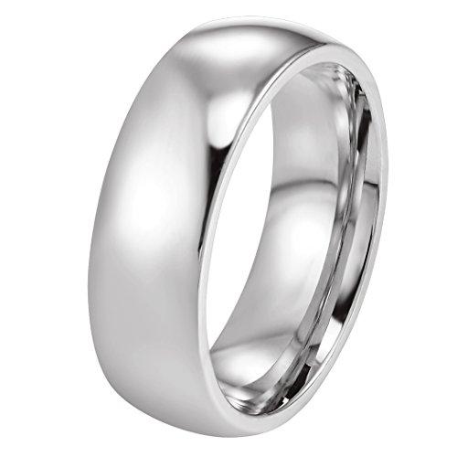 PROSTEEL Edelstahl Herren Ring, Hochglanzpoliert 6mm Breite Ring Klassischer Ehering für Männer Ringgrößen 49(15.6)- 70 (22.3)