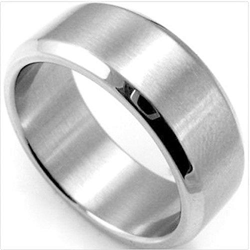 PinzhiCOOL Edelstahl Ring Band Titan Silber Schwarz Gold Herren SZ 10 Schmuck