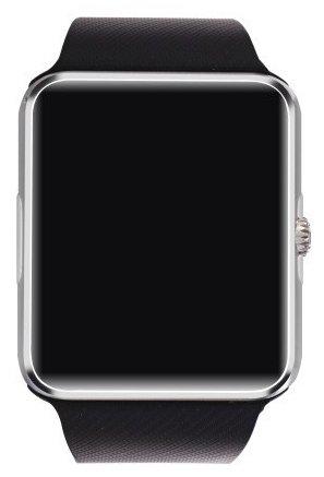 SmartWATCH Premium G4 Bluetooth Uhr Watch für Android Smartphones (inkl. WhatsApp Benachrichtigungen übertragen*) mit SIM-Karten Slot Technikware Schwarz/Silber