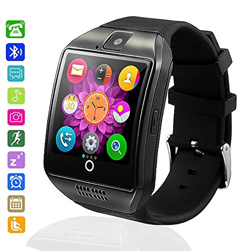 Smartwatch Bluetooth Wasserdicht, axcella 2018 New Smartwatch unterstützt SIM/TF-Karte Smart Armband Band Sport mit Schrittzähler Schlafen Monitor Facebook WHATSAPP Smartwatch für Andorid Smartphone