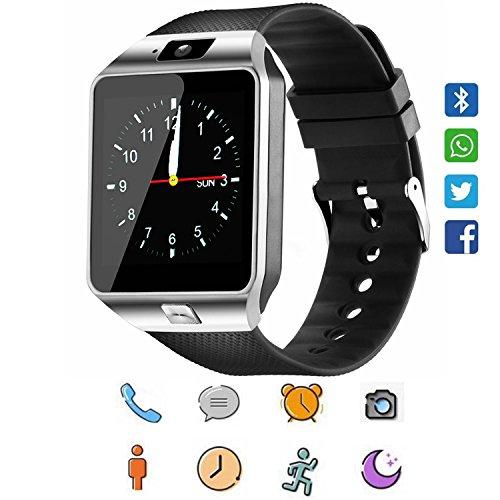 Smartwatch, CoolFoxx DZ09 Bluetooth 4,0 Mutifunktionale Armbanduhr, unterstützt Sim & TF-Karte, mit Kamera Schrittzähler Anti-Lost Tracker Stoppuhr Nachricht Kalender für Android Smartphones