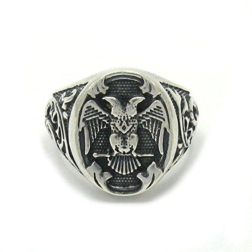 Sterling silber 925 Zwei Adler Herren Ring Empress Größe 52 - 74