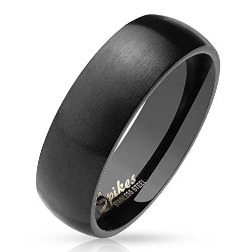 Tapsi´s Coolbodyart® Damenring Herrenring Domering aus Edelstahl in schwarz matt und poliert verschiedene Größen