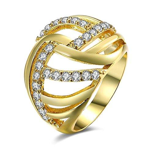 Vergoldet Runden Ringe für Frauen Gold Ringe durch Aeici