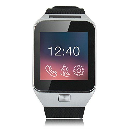 X-WATCH X29W Bluetooth Smart-Watch (ab Android 4.4) mit Sim-Kartenslot, Kamera, Schrittzähler, Schlafmonitor │ synchronisiert Anrufe, Messenger, SMS, E-Mail