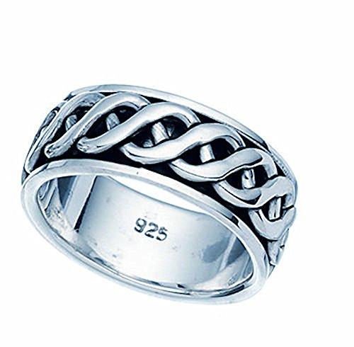 geflochtener Spinning-Ring, Sterling-Silber 925