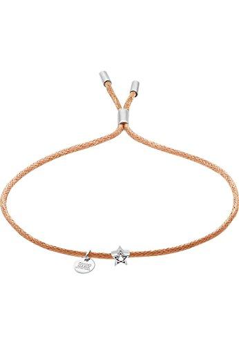 Guido Maria Kretschmer Damen-Armband 925er Silber Diamant One Size, braun/beige