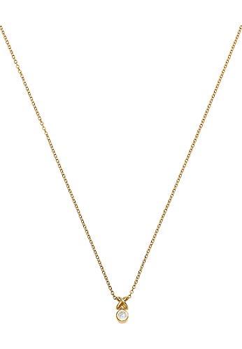 Guido Maria Kretschmer Damen-Kette 375er Gelbgold 1 Diamant ca. 0,01 Karat One Size, gold