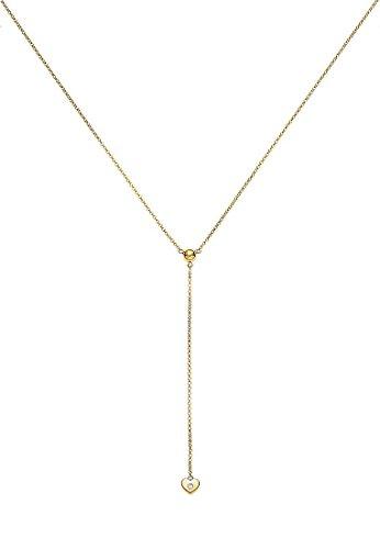 Guido Maria Kretschmer Damen-Kette 925er Silber 1 Diamant ca. 0,02 Karat One Size, gold