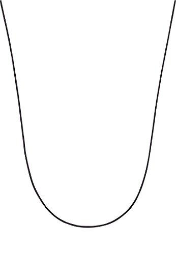 Guido Maria Kretschmer Damen-Kette Nylonkette 925er Silber One Size, schwarz