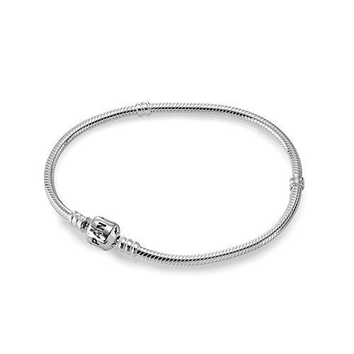 Original PANDORA Sterling Silber 7.1 Bead Verschluss Charm Armband 590702hv-18 cm
