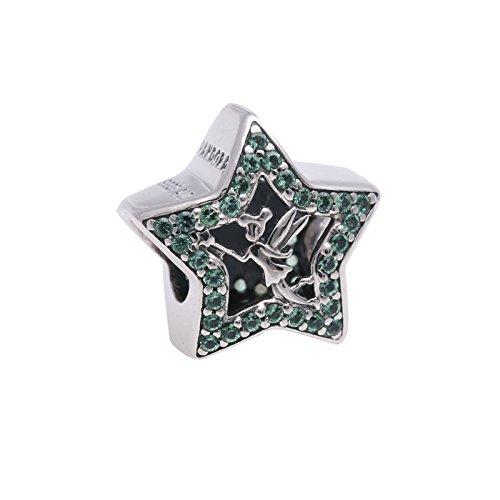 """Pandora Disney-Charm """"Tinker Bell"""", Stern, grüner Kristall, 2016Frühlingskollektion, 791920NPG"""