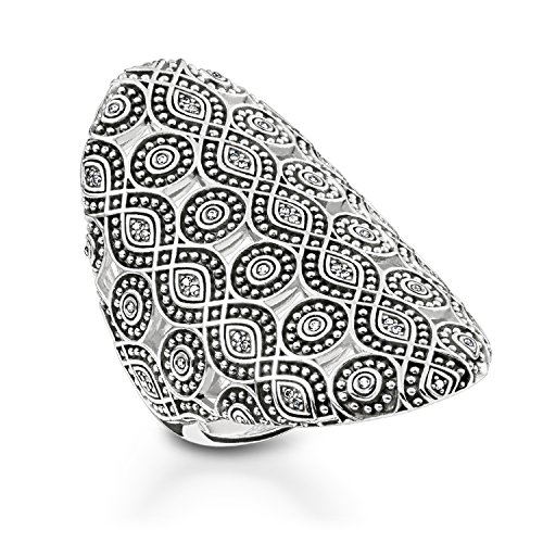 THOMAS SABO Damen Ring Ethno Ornamente 925er Sterlingsilber, Geschwärzt TR2093-643-14