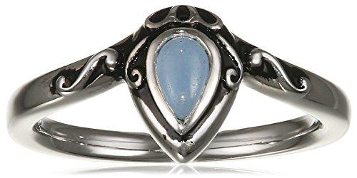 caï women Damen-Ring INDIA ETHNO 925 Silber rhodiniert Jade blau Gr. 60 (19.1) - C1632R/90/I2/60
