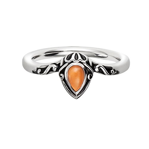 caï women Damen-Ring INDIA ETHNO 925 Silber rhodiniert Mondstein orange Gr. 58 (18.5) - C1632R/90/X3/58