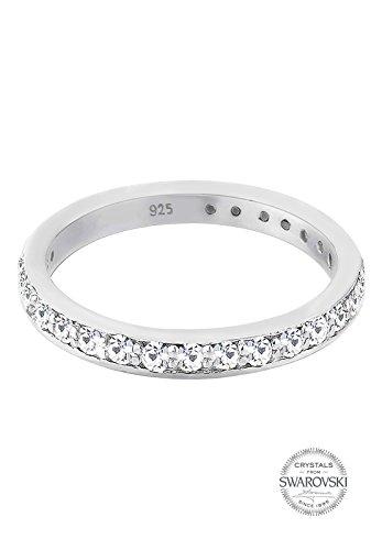 Elli Ring Damen Glamourös mit Swarovski Kristallen in 925 Sterling Silber