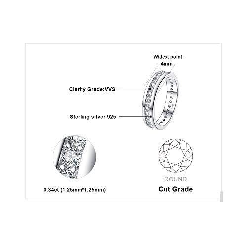 JewelryPalace Verlobungsring Eheringe Ring Silber 925 Damen, Zirkonia Silberringe Trauringe Damenring Vorsteckring…