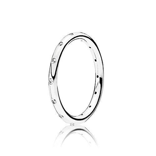 Pandora Damen-Ring Tröpfchen 925 Silber Zirkonia weiß Gr. 54  (M½ - N½)