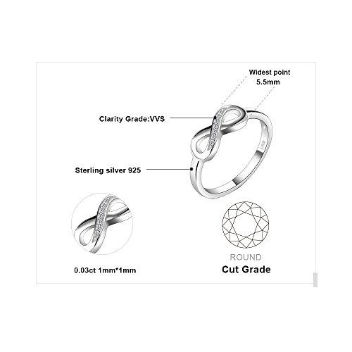 JewelryPalace Wickelring Infinity Verlobungsring Unendlichkeit Promise Eheringe Ring Silber 925 Damen, Zirkonia…