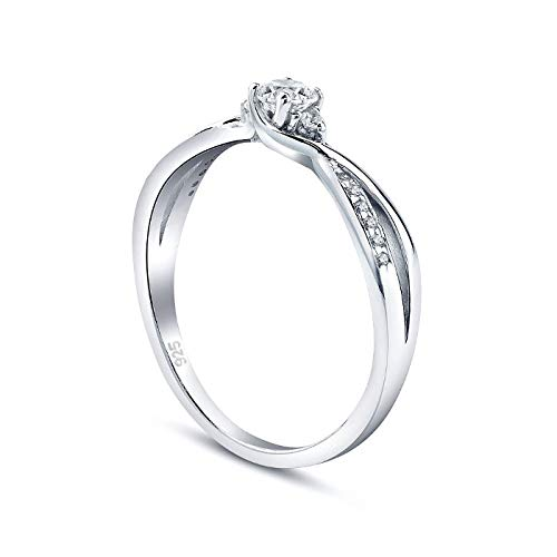 SILVEGO Verlobungsrring mit Swarovski® Zirconia 925 Sterling Silber (62 (19.7))
