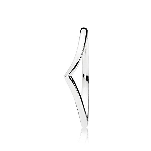 Pandora Damen Polished Wishbone Ring Sterling Silber 196314-56