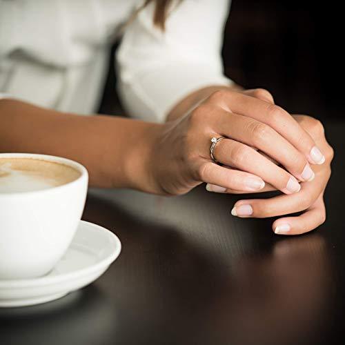 Verlobungsring Silber 925 Weißgold 585 750 PERSONALISIERT + ETUI mit individueller GRAVUR Damen-Ring Heiratsantrag…