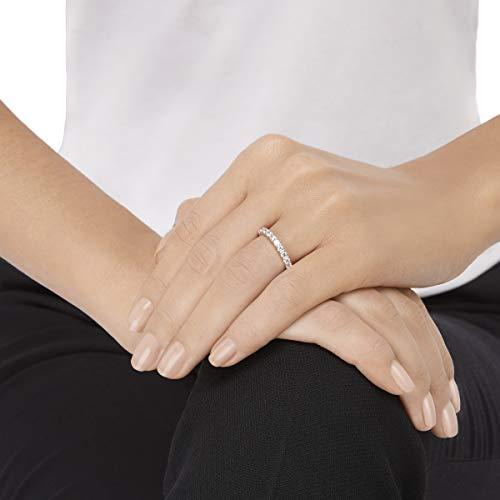 Swarovski Damen-Ring Platiniert Kristall transparent Rundschliff 5257465