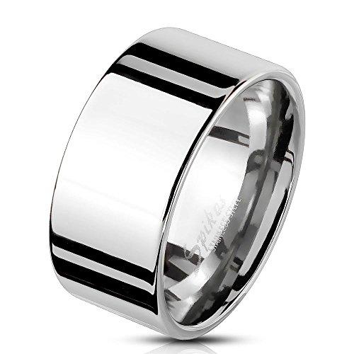 Bungsa® Herren-Ring BREIT Silber Edelstahl massiv